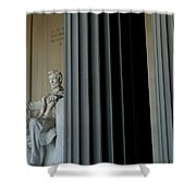 Statue Of Abraham Lincoln Is Seen Shower Curtain
