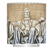 Statue Of Abraham Lincoln - Lincoln Memorial #3 Shower Curtain