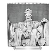 Statue Of Abraham Lincoln - Lincoln Memorial #4 Shower Curtain
