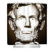 Statue Of Abraham Lincoln - Lincoln Memorial #5 Shower Curtain