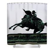 Statue Of Archduke Charles, Heldenplatz, Vienna Shower Curtain