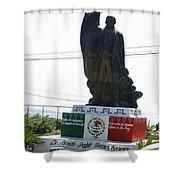 Statue Of Benito Pablo Juarez Garcia  Shower Curtain