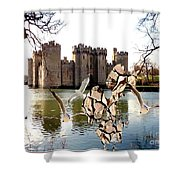 Statue Of Fish 112 Shower Curtain