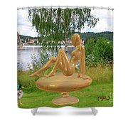 Statue Of Girl 2 Shower Curtain