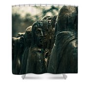 Statue Of Idle Thought Shower Curtain