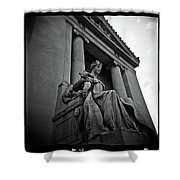 Statue Of Justice At The Courthouse In Memphis Tennessee Shower Curtain