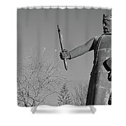 Statue Of King Afonso The Third. Portugal Shower Curtain
