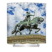 Statue Of King John I Lisbon Shower Curtain