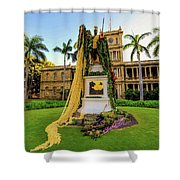 Statue Of, King Kamehameha The Great Shower Curtain