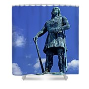 Statue Of Leif Ericksson  Shower Curtain