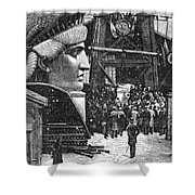 Statue Of Liberty, 1881 Shower Curtain