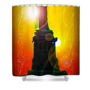 Statue Of Liberty 7 Shower Curtain