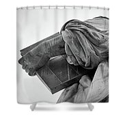 Statue Of Liberty, Arm, 2 Shower Curtain