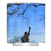 Statue Of Liberty Back View  Shower Curtain