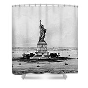 Statue Of Liberty, C1886 Shower Curtain