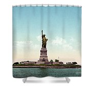 Statue Of Liberty, C1905 Shower Curtain