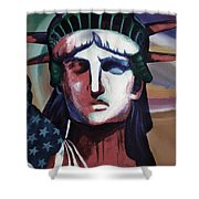 Statue Of Liberty Hb5t Shower Curtain
