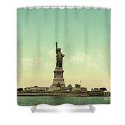 Statue Of Liberty, New York Harbor Shower Curtain