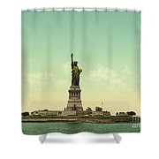 Statue Of Liberty, New York Harbor Shower Curtain