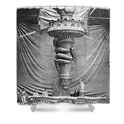 Statue Of Liberty, Paris Shower Curtain