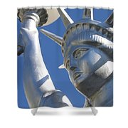 Statue Of Liberty Restaurant Courtyard Chandler Arizona 2005 Shower Curtain