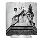 Statue Of Liberty, Tall Shower Curtain