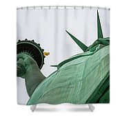 Statue Of Liberty, Torch And Crown Shower Curtain