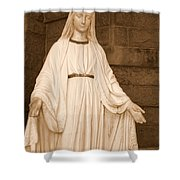 Statue Of Mary At Sacred Heart In Tampa Shower Curtain