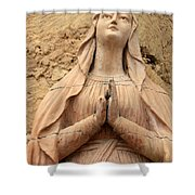 Statue Of Mary Closeup Shower Curtain
