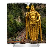 Statue Of Murugan Shower Curtain by Adrian Evans