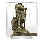 Statue Of Robert The Bruce Stirling Castle Shower Curtain
