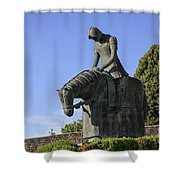 Statue Of St Francis Of Assisi  Shower Curtain