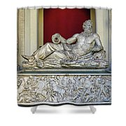 Statue Of The Greek River God Tiberinus At The Vatican Museum Shower Curtain