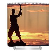 Statue On Cemerty Ridge Shower Curtain