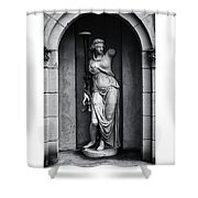 Statue Under Cover Shower Curtain