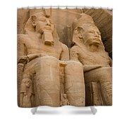 Statues At Abu Simbel Shower Curtain
