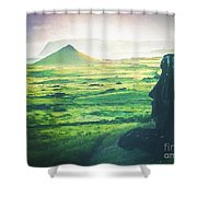 Statues Of Easter Island Shower Curtain