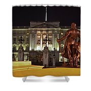 Statues View Of Buckingham Palace Shower Curtain