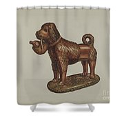 Statuette Of A Dog Shower Curtain