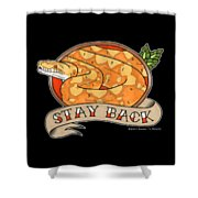 Stay Back Reticulated Python Shower Curtain
