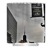 Staying Downtown Shower Curtain