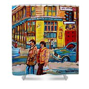 Ste. Catherine Street Montreal Shower Curtain