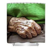 Steadying Hand Shower Curtain