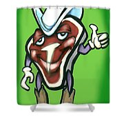 Steak Shower Curtain