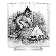 Stealin The Cooler - Sasquatch Shower Curtain