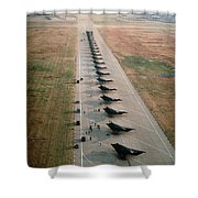 Stealth Fighters 37 Tactical Fighter Wing Shower Curtain