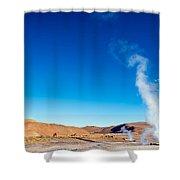 Steam At El Tatio Geysers Shower Curtain