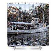 Steam Boat On Loch Katrine Shower Curtain