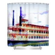 Steam Boat Shower Curtain