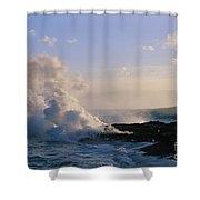 Steam Cloud And Lava Shower Curtain